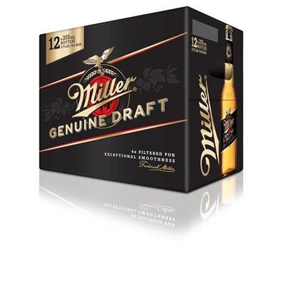 Miller Genuine Draft 12 B
