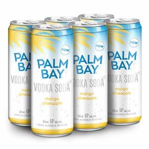 Palm Bay Vodka Soda Mango Pineapple 6 C