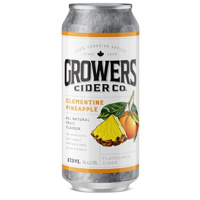 Growers Clementine Pineapple Flavoured Cider 473ml