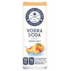 Cottage Springs Peach 355ml