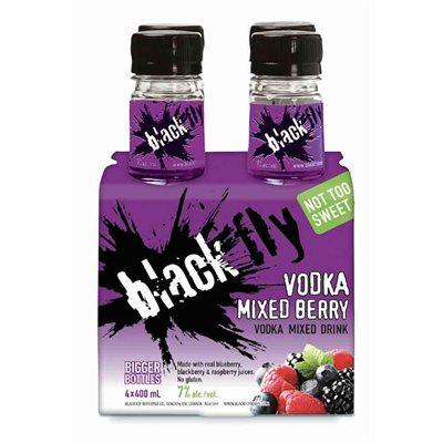 Black Fly Vodka Mixed Berry 4 B