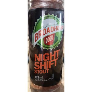 Broadhead Night Shift Stout 473ml