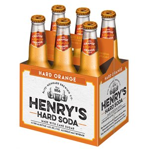 Henrys Hard Soda Orange 6 B