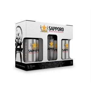 Sapporo Gift Pack 4 x 500ml