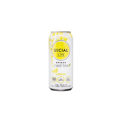 Social Lite Spiked Lemon Tea 473ml