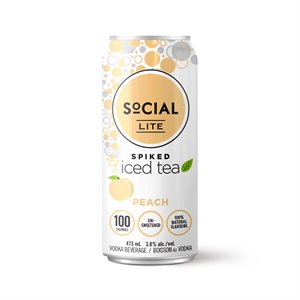 Social Lite Spiked Peach Tea 473ml