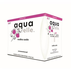 Aquarelle Passion Fruit Sparkling Water 6 C