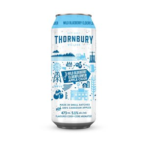 Thornbury Village Wild Blueberry Elderflower Apple Cider 473ml