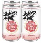 Black Fly Gin Fizz Grapefruit Soda 4 C