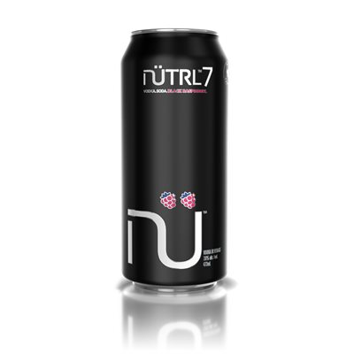 Nutrl Vodka Soda N7 Black Raspberry 473ml