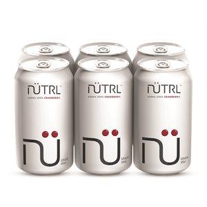 Nutrl Vodka Soda Cranberry 6 C