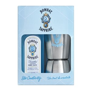Bombay Sapphire With Jigger & Recipe Cards Gift Pack