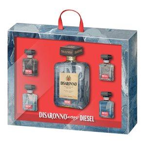 Disaronno Wears Diesel Gift Pack 750ml + 4 x 50ml