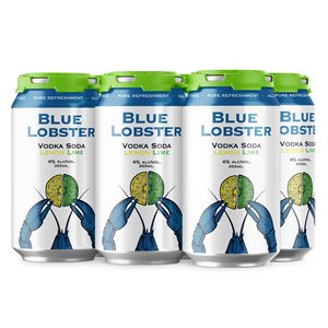 Blue Lobster Vodka Soda Lemon Lime 6 C