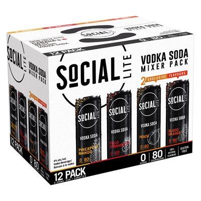 Social Lite Mixed Pack 12 C
