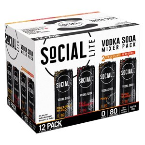 Social Lite Mixed Pack 12 C