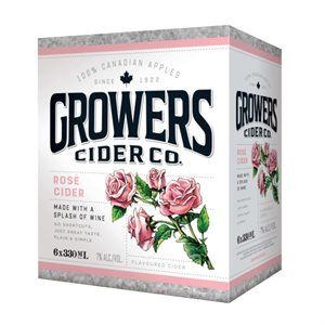 Growers Rose Flavoured Cider 6 B