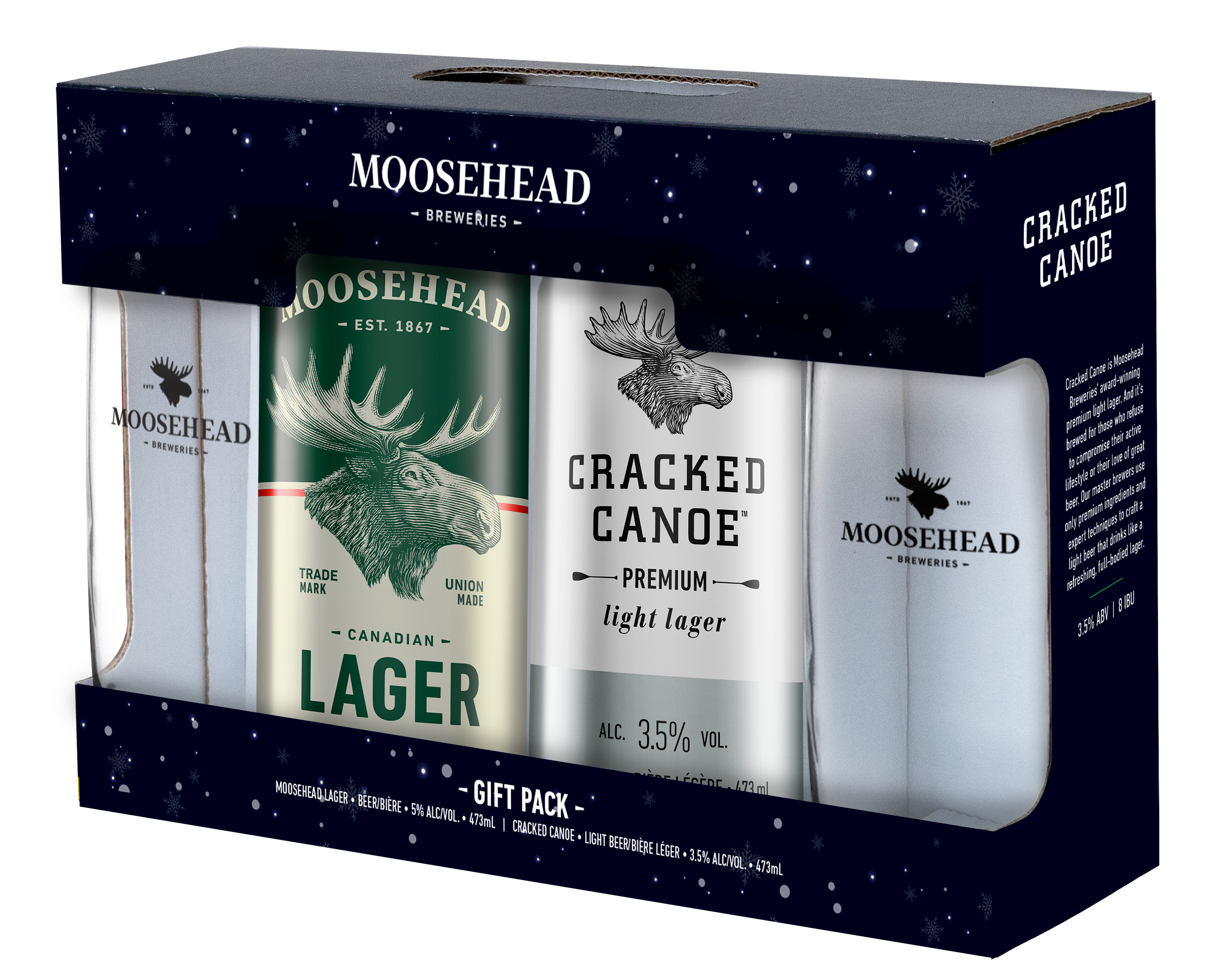 Moosehead Gift Pack With Glasses 2 x 473ml