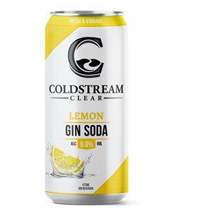 Coldstream Lemon Gin Soda 473ml