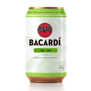 Bacardi Rum & Soda With Lime 355ml