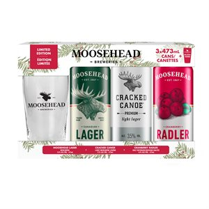 Moosehead Holiday Gift Pack 3 x 473ml