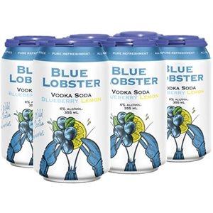 Blue Lobster Vodka Soda Blueberry Lemon 6 C