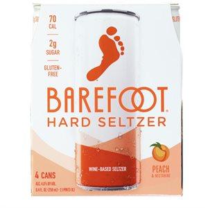 Barefoot Hard Seltzer Peach & Nectarine 4 C