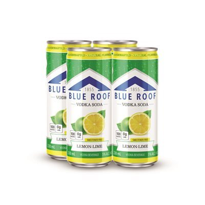 BLUE ROOF VODKA SODA LEMON-LIME